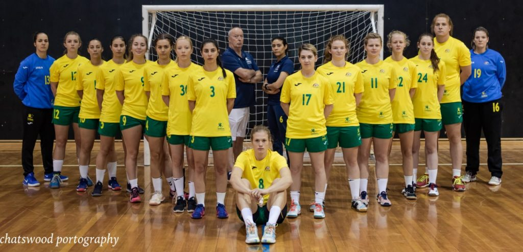 Australia women posing in vshape