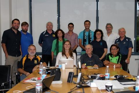 Handball Australia delegates pose for a photo