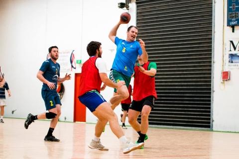 Action from Handball