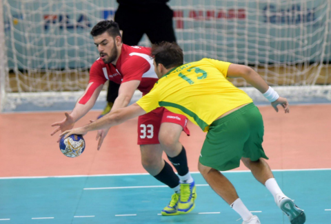 Action from Asian Handball Championship
