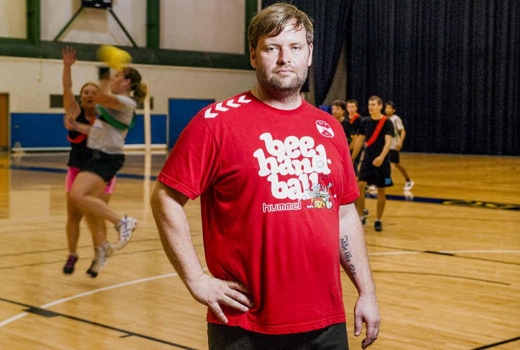 a photo of Jan Ottosen wearing a red shirt