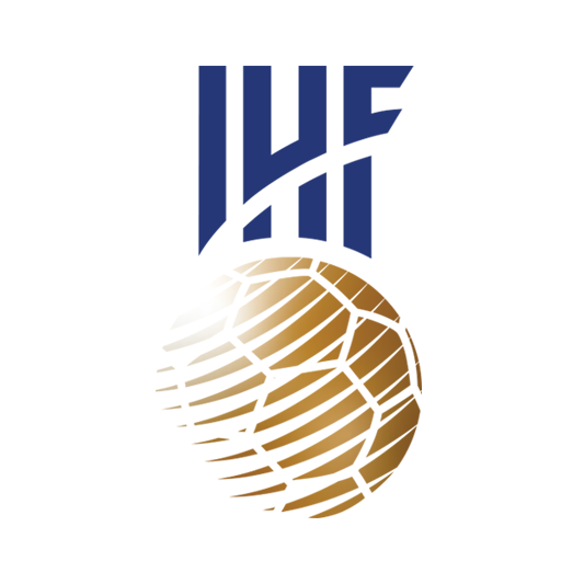 IHF Logo with IHF inscription over a golden ball